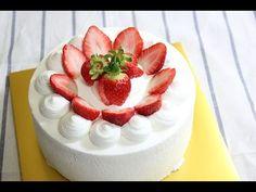 피오니 딸기케이크 / 생크림케이크 / 베이킹 / strawberry whipped cream cake / strawberry sh...
