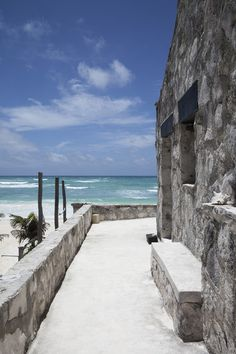 The view of the beach from Coqui Coqui in Tulum, Mexico. (Source: Lonny)