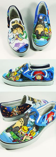 Studio Ghibli Fan Art Custom Shoe , Annatar by *Annatarhouse on deviantART
