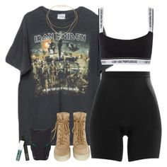 """Black Panther"" by oh-aurora ❤ liked on Polyvore featuring Brandy Melville, SPANX, YEEZY Season 2, STELLA McCARTNEY, NARS Cosmetics, Obsessive Compulsive Cosmetics, Emporio Armani, Tiffany & Co., aurora and polyvorecommunity"