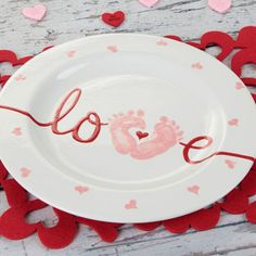 My Baby Love Plate from Duncan Ceramics.  Click on the link for the tutorial and products used.