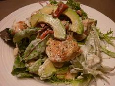 Warm Chicken and Coriander Salad ~ made in minutes.  Lo Fat and Lo Carb