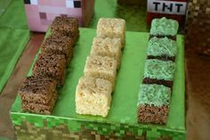 Gavin's 6th birthday party was all things Minecraft, so we created this TNT cake based on the graphics in the game. Description from pinterest.com. I searched for this on bing.com/images
