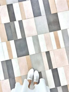 One InStyle editor discovers a fabulous Moroccan tile resource in the midst of renovating her N. Floor Design, Tile Design, House Tiles, Floor Patterns, Square Tile Patterns, Grey Bathrooms, Bathroom Flooring, Tile Flooring, Interior Decorating