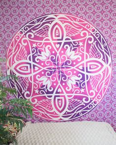 """Pink Celtic Tapestry from thebohemianshop.com - Save 15% OFF your order using coupon code """"SAVE15"""""""