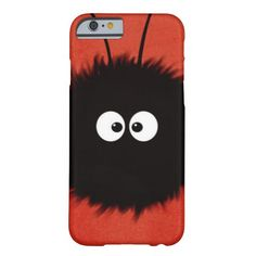 Red Cute Fluffy Dazzled Bug Character iPhone 6 Case by @Boriana Giormova