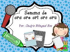 """Spanish word study for syllables with consonant blend /CR/. You will have the following for teaching """"trabadas"""" cra cre cri cro cru. * Teacher pacing chart for teaching vowels, consonants and syllables in Spanish* Student ABC and Syllable Charts for writing* Phonemic Awareness activities* Word flashcards* Consonant blend syllable flashcards* Phonics Handwriting Sheets* Center Word Work Worksheets and Games* Board Game to practice writing the words from the week * Puzzle game for building…"""