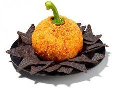 Pumpkin Cheese Ball Creative Halloween Appetizers