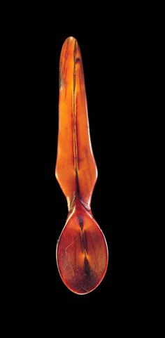 Africa | Spoon from the Lega people of DR Congo; ivory. L: 17.5 cm