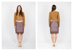 PARADOX SS15 'Details' Collection Brown quilted sweater - 10 000HUF Powderpink silk skirt - 16.000HUF