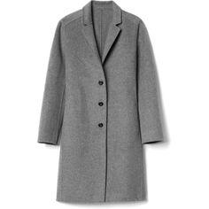 Double-face car coat (1 910 SEK) ❤ liked on Polyvore featuring outerwear, coats, jackets, coats & jackets, car coat, reversible coat, double faced coat and gap coats