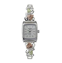 Black Hills Gold Tricolor Sterling Silver Ladies' Watch
