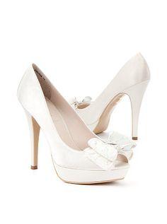 Satin Lace Bow Platform Shoes.                    Cute!!!
