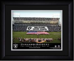 Your Name on a sign in Oakland Alameda County Coliseum, Your Day at the Stadium.  Great gift for Raiders Fans. Customize with your name on cards held by the fans and make it Your Day at the stadium. #RaidersNation #OaklandRaiders