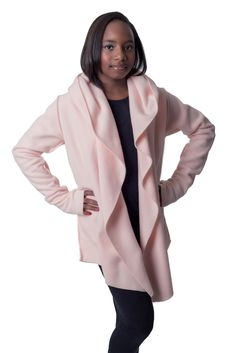 Baby Pink yoga wrap so pretty and soft Jane Clothing, Athleisure, Ava, Duster Coat, Wraps, Cozy, Casual Jackets, Blazer, Pretty