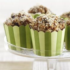 These Morning Glory muffins are full of everything you'd expect in the bakery favorite--carrots, apple and raisins, topped with nuts and toasted wheat germ. But most versions are high in fat so we substituted apple butter for much of the fat, which makes each bite superbly moist and tender. If raisins aren't your favorite, substitute an equal amount of the dried fruit of your choice.