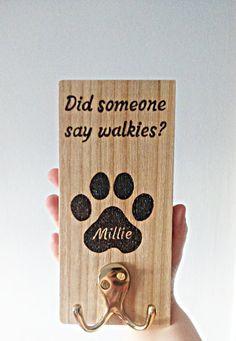 Personalized dog lead holder dog leash hook pet leash dog | Etsy Dog Names, Dog Leash, Dog Gifts, Own Home, Wood Burning, Dog Mom, Your Pet, Dog Lovers, Pets