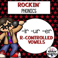 OU and OW (Diphthongs) Rockin' Phonics - Help your Kindergarten and grade students master th R Controlled Vowels Activities, Vowel Activities, Phonics Activities, Er Words, Silly Words, Help Teaching, Teaching Reading, First Grade Phonics, Phonics Sounds