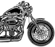 Copyright David Vicente © 2012 - All rights reserved Harley Davidson Kunst, Harley Davidson Trike, Scooter Motorcycle, Bicycle Sidecar, Motorcycle Birthday, Harely Davidson, Hd Tattoos, Harley Bikes, Bike Art