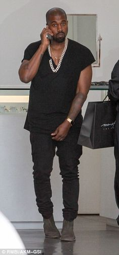 Kim Kardashian and Kanye West hit the shops after celebrating in NYC #dailymail