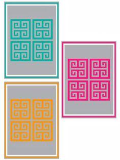 Greek key free printables Δωρεάν αρχεία προς εκτύπωση με μαιάνδρους