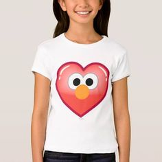 (Elmo Heart Tee Shirt) #Cute #Elmo #Emoji #EmojiIcons #Fun #Icons #MobileIcon #SesameStreet is available on Famous Characters Store   http://ift.tt/2bySf0t