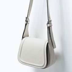 Image 3 of LEATHER MESSENGER BAG from Zara