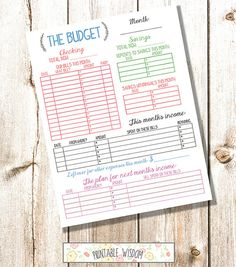 INSTANT DOWNLOAD printable budget planner by PrintableWisdom, $5.00