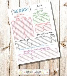 INSTANT DOWNLOAD printable budget planner by PrintableWisdom, $5.00