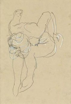 Auguste Rodin quick-contour drawing