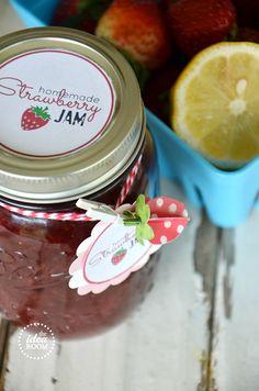 Strawberry-Jam-recipe and tag