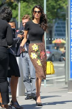 Amal Clooney Embraces a Chic Rugged Maternity Look - HarpersBAZAAR.com