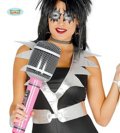 Puhallettava+Mikrofoni,+pinkki Drive In, Disco Party, Hair Dryer, Pop, Festivals, The Originals, Stain Colors, Black, Accessories