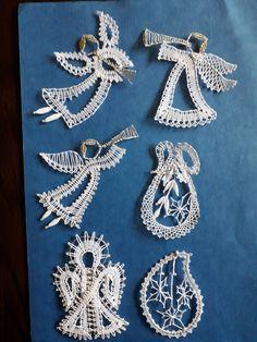 Christmas Deco, Brooch, Crochet, Jewelry, Bobbin Lace, Bobbin Lacemaking, Loom Knit, Fabrics, Amigurumi