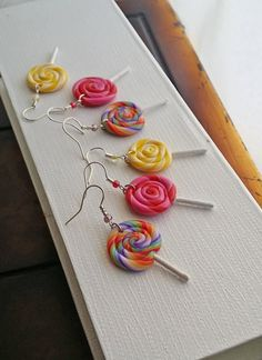 Hey, I found this really awesome Etsy listing at https://www.etsy.com/listing/267914069/colorful-lollipop-earrings-handmade-from