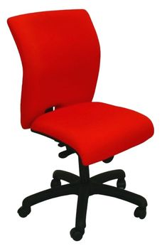 E-Tek M11 chair with a stylish curved back and curved waterfall seat offering ergonomic comfort.  Fully upholstered in a range of fabrics or vinyl including the rear of the back rest and with a cushioned seat and back #affordablechair #officechair