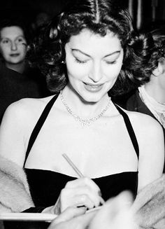 Ava Gardner signing autographs at the London Coliseum, 1951photo posted by msmildred