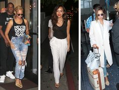 Celebrity Street Style of the Week: Beyoncé, Ashley Madekwe, & Jessica Alba. Boyfriend jeans and trousers and statement coats, oh my!
