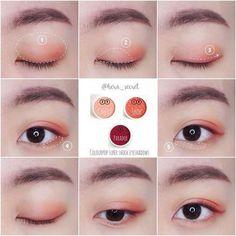 Gorgeous Makeup: Tips and Tricks With Eye Makeup and Eyeshadow – Makeup Design Ideas Korean Makeup Look, Asian Eye Makeup, Simple Eye Makeup, Natural Makeup, Asian Eyeshadow, Makeup Eyeshadow, Blush Makeup, Makeup Inspo, Makeup Tips