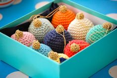 Think about how crafty you are and consider Christmas in crochet designs. You can make all the crochet Christmas decorations in the world! That's right, we're here to give you all the free Christmas crochet patterns you can make. Crochet Christmas Decorations, Crochet Ornaments, Christmas Crochet Patterns, Holiday Crochet, Crochet Crafts, Crochet Projects, Free Crochet, Ball Ornaments, Crochet Ball