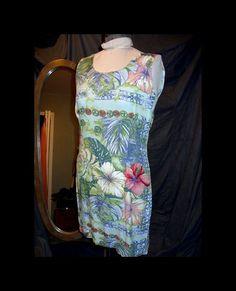 4c34e10b0 Items similar to Vintage Retro Jams World Hawaiian Luau Aloha Dress Med on  Etsy