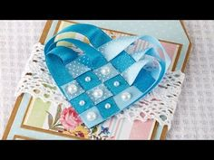 How To Make a Woven Ribbon Heart   Craft Techniques - YouTube
