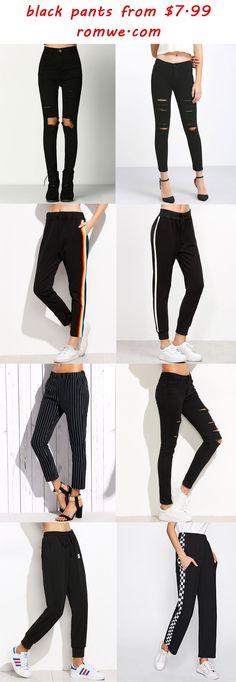 black pants 2017 - romwe.com