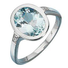 Dreambase Damen-Ring 4 Diamant-Brillanten 14 Karat (585) Weißgold 0.02 ct. 1 Aquamarin 54 (17.2) von Dreambase, http://www.amazon.de/dp/B00AEEHFZ0/ref=cm_sw_r_pi_dp_bMT9qb1AV4JGR