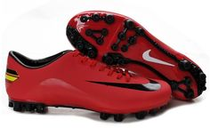 New Nike Mercurial Victory VIII AG Boots Jnr Cristiano Ronaldo Mercurial Vapor soccer cleats red black Adidas Soccer Boots, Nike Boots, Adidas Shoes, Cheap Soccer Shoes, Cheap Soccer Cleats, Black Football Boots, Football Shoes, Boots Store, Zapatos