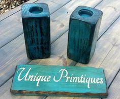 Distressed Grungy Blue Unique Primtiques by UniquePrimtiques
