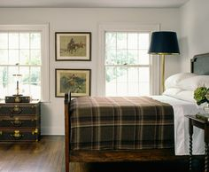 equestrian style bedroom