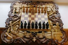 Chess Moves, Art Through The Ages, Board Game Design, Chess Pieces, World Cultures, Cool Furniture, Wood Art, Board Games, Chess Boards