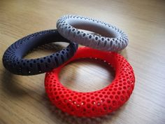 Juicy Red Tomato Polyoptic Bangle  3d printed van uptomuch op Etsy, $62.00