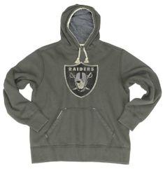 NFL Oakland Raiders Bigger Better Logo Pull Over Hoodie Men's Reebok. $25.21